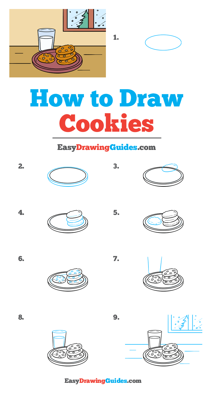 How to Draw Cookies Step by Step Tutorial Image