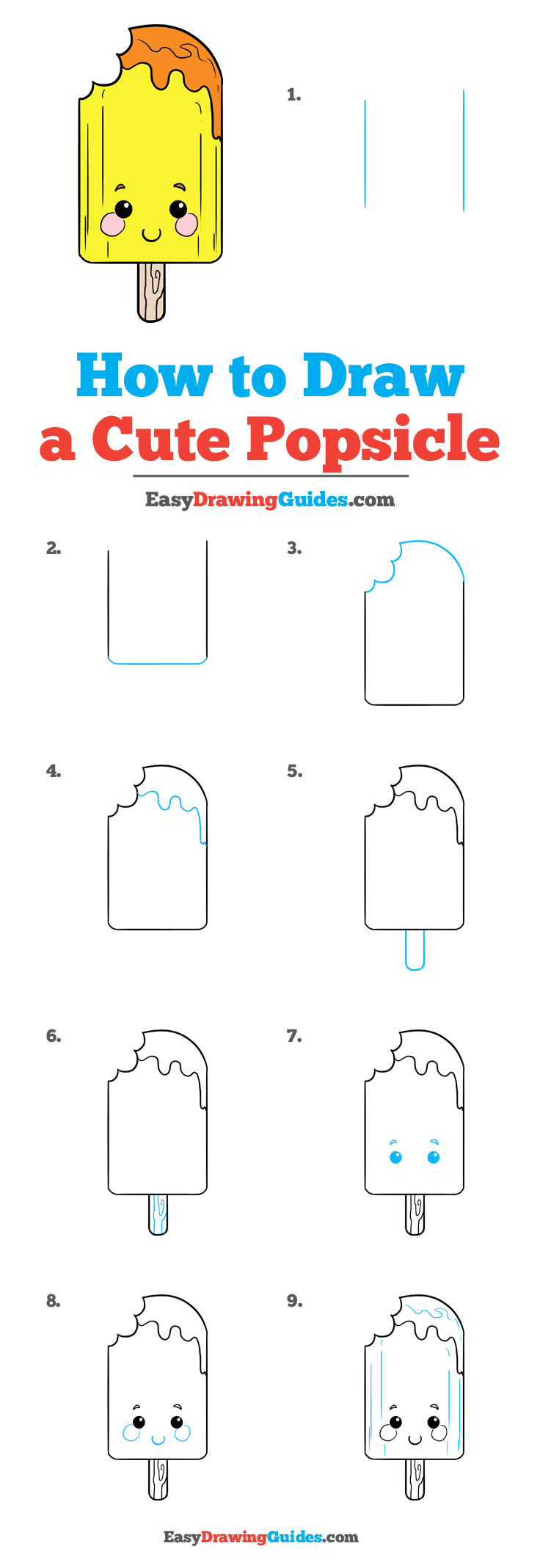 How to Draw Cute Popsicle