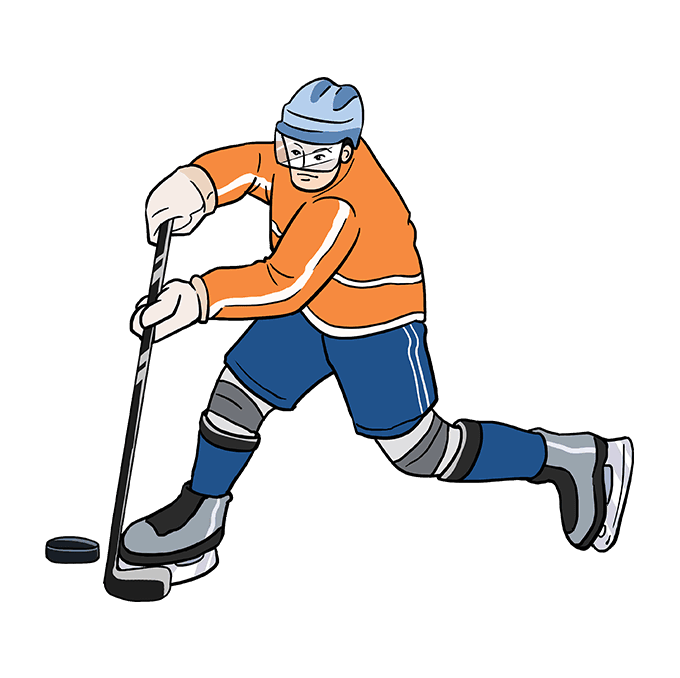 How to Draw Hockey Player: Step 10