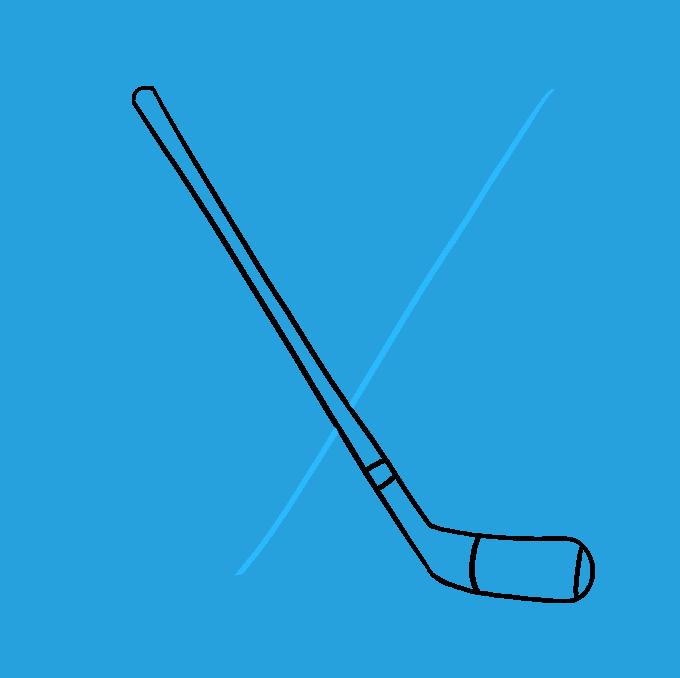How to Draw a Hockey Sticks Step 05