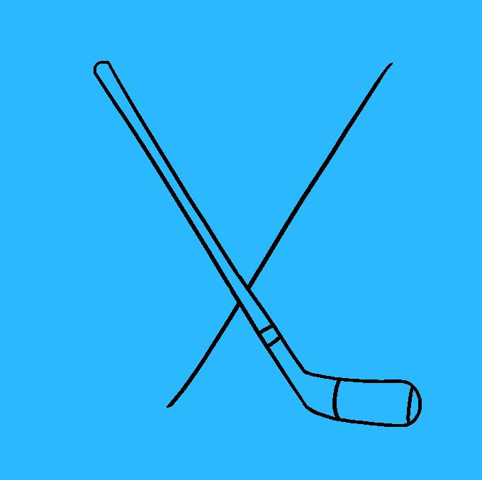 How to Draw a Hockey Sticks Step 06