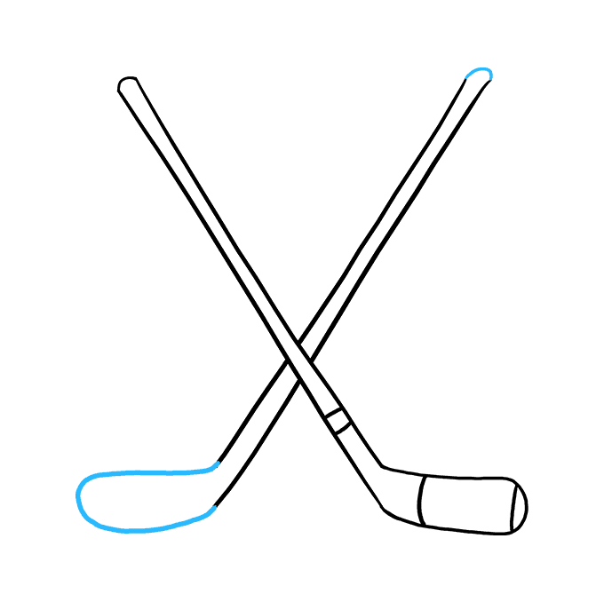 How to Draw a Hockey Sticks Step 07