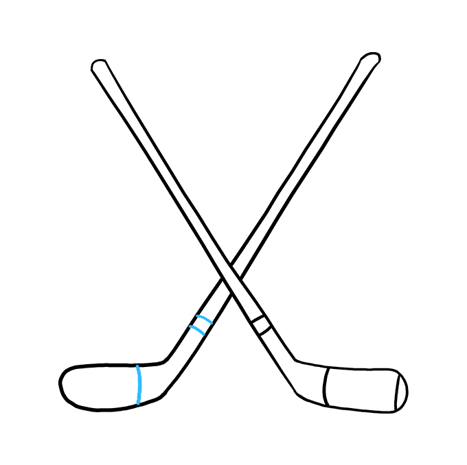 How to Draw a Hockey Sticks Step 08