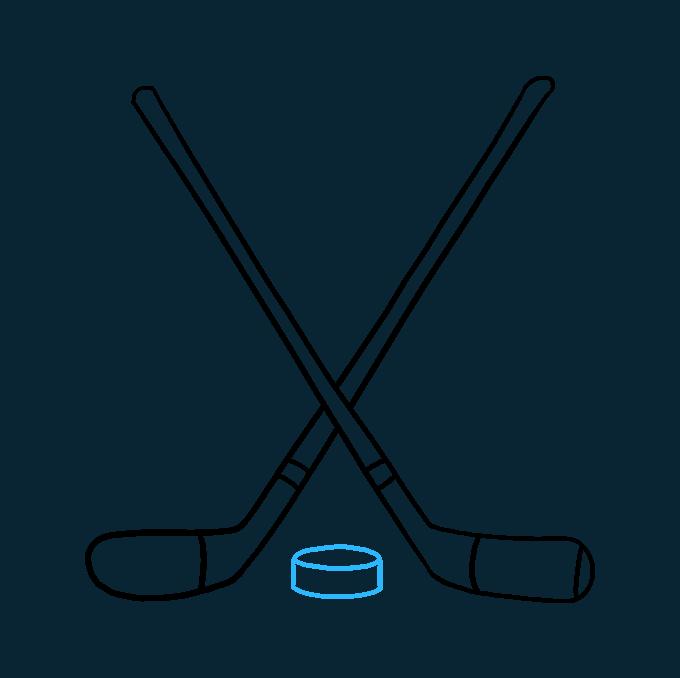 How to Draw a Hockey Sticks Step 09