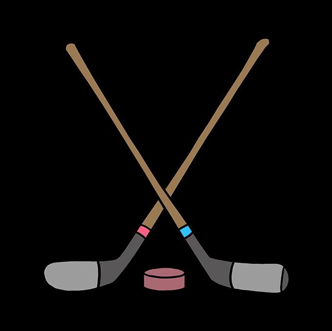 How to Draw a Hockey Sticks Step 10