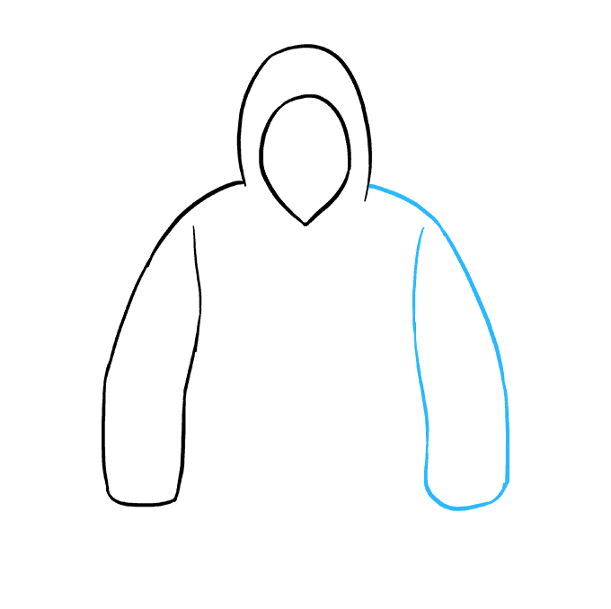 How to Draw Hoodie: Step 4