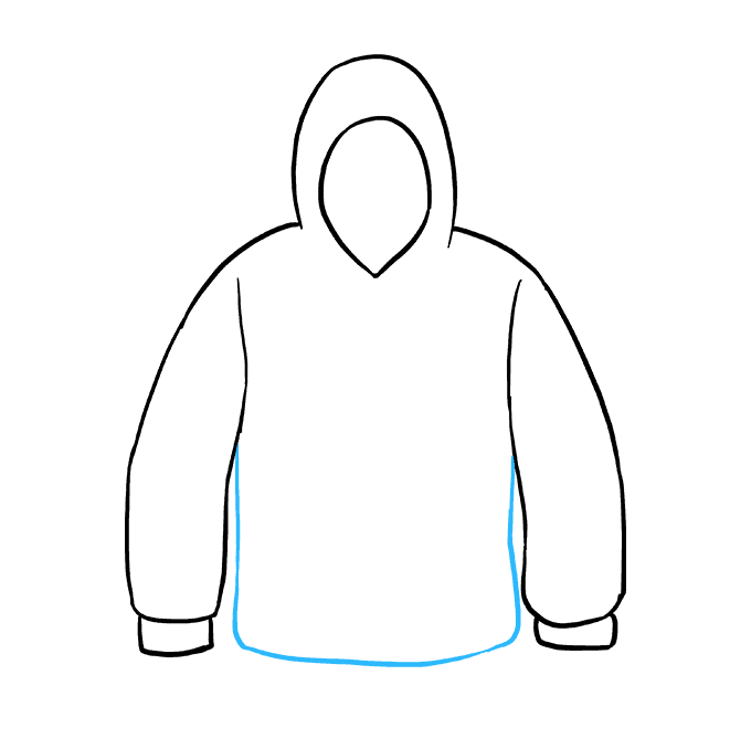 How to Draw a Hoodie Step 06