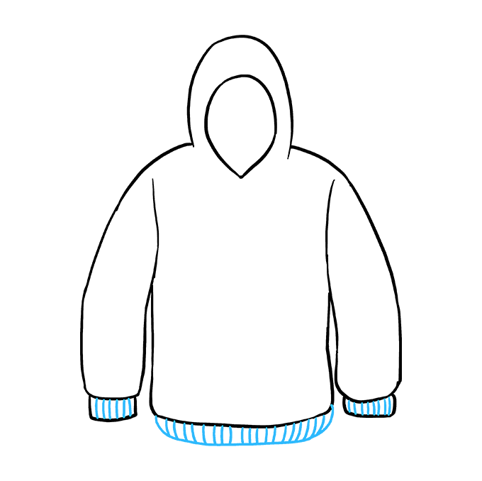 How to Draw a Hoodie Step 07