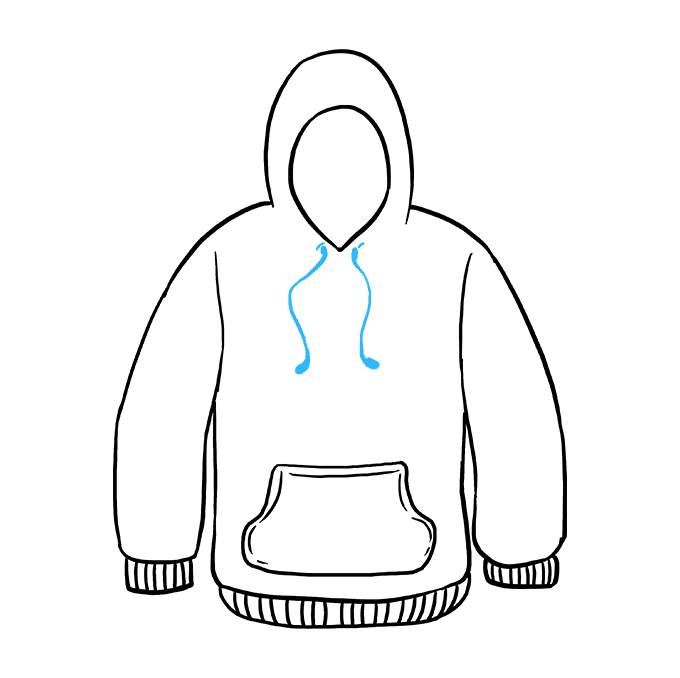 How to Draw a Hoodie Step 09