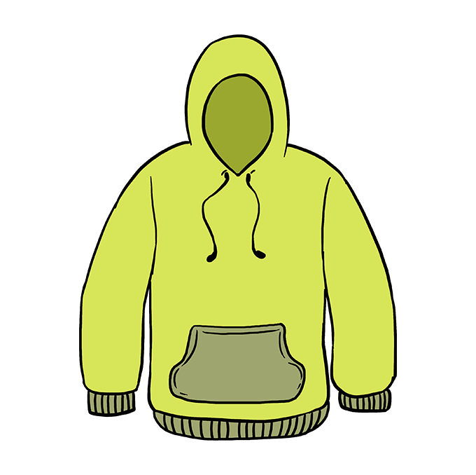 How to Draw Hoodie: Step 10