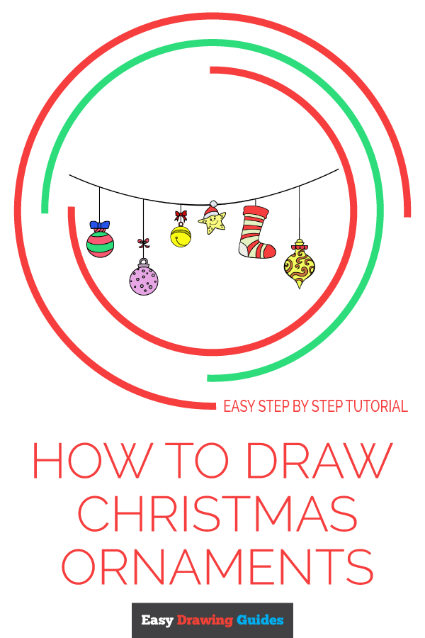 How to Draw Christmas Ornaments | Share to Pinterest