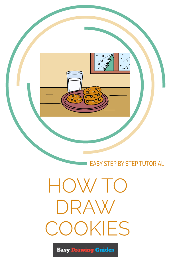 How to Draw Cookies | Share to Pinterest