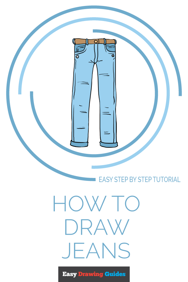 How to Draw Jeans | Share to Pinterest