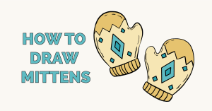 How to Draw Mittens Featured Image