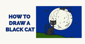 How to Draw a Black Cat Featured Image