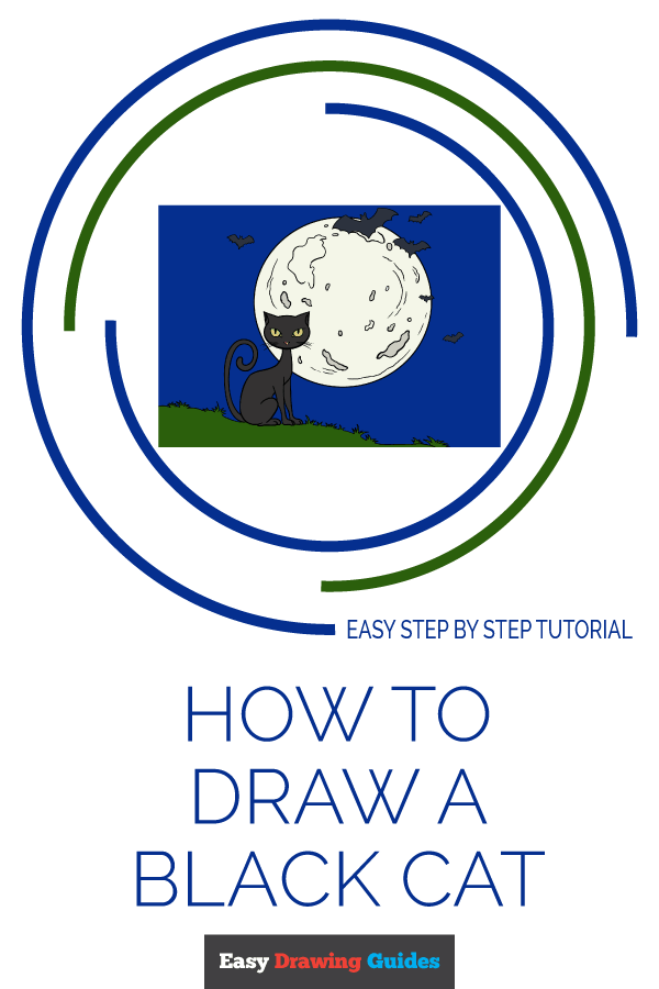 How to Draw a Black Cat Pinterest Image