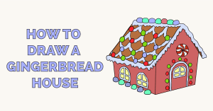 How to Draw a Gingerbread House Featured Image