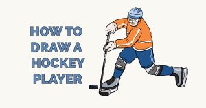 How to Draw a Hockey Player Featured Image