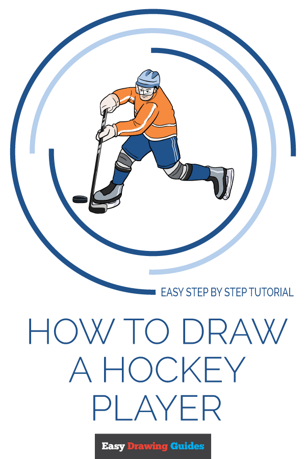 How to Draw Hockey Player | Share to Pinterest