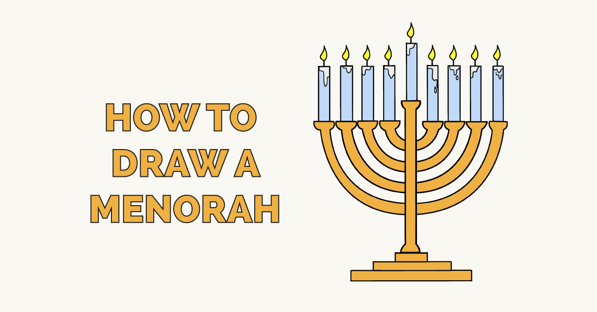 How to Draw a Menorah Featured Image