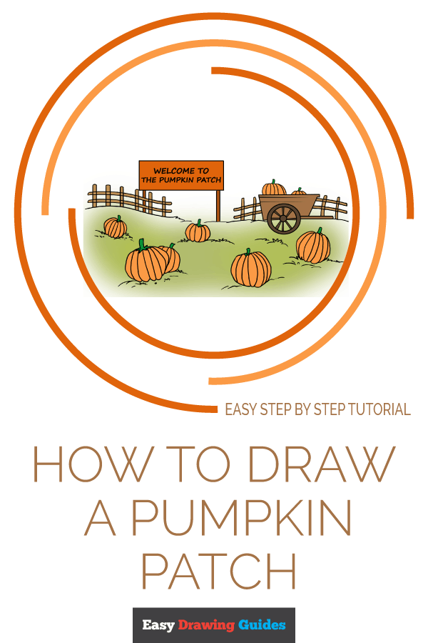 How to Draw a Pumpkin Patch Pinterest Image