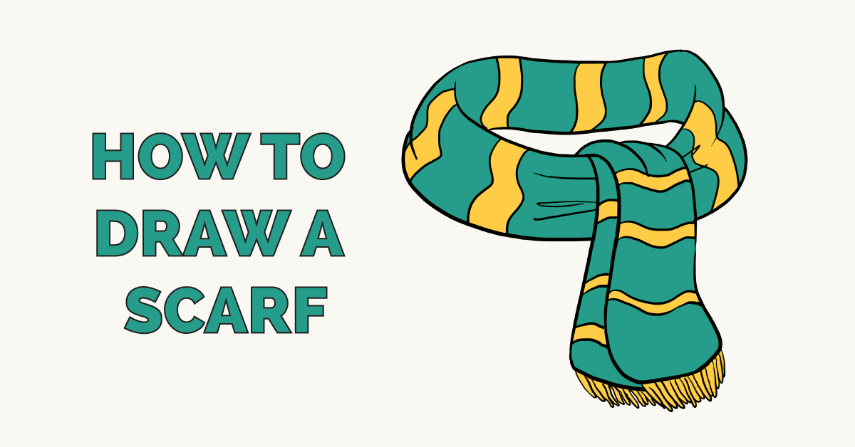 How To Draw A Scarf Really Easy Drawing Tutorial