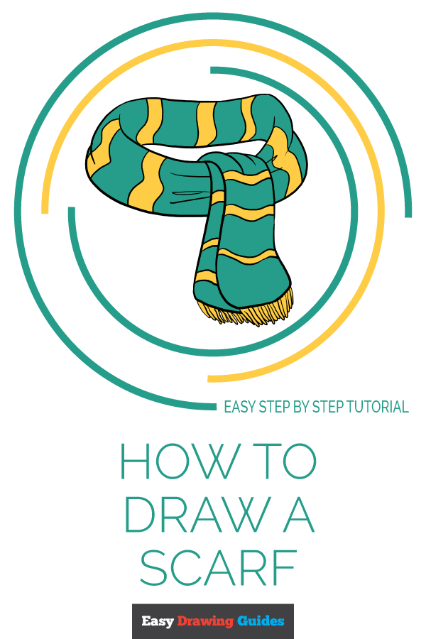 How to Draw Scarf | Share to Pinterest