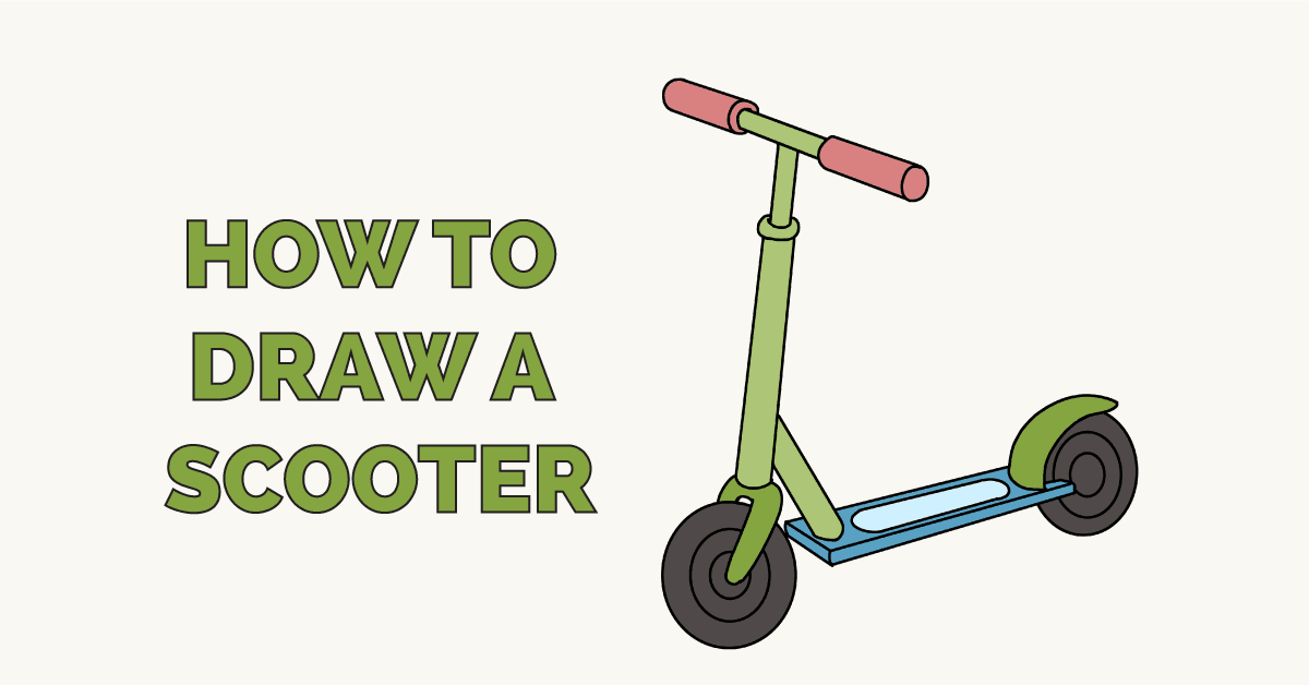 How To Draw A Scooter Really Easy Drawing Tutorial