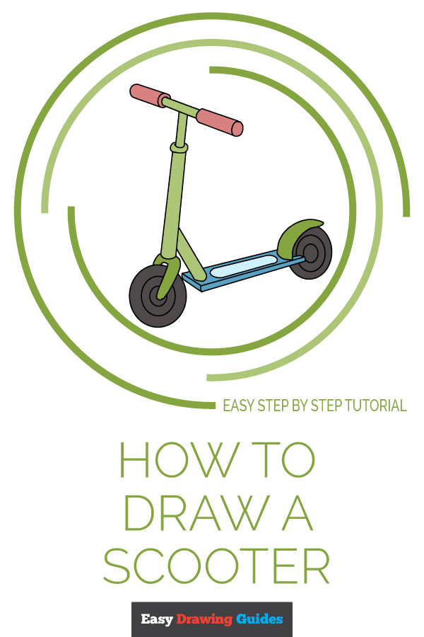 How to Draw a Scooter Pinterest Image