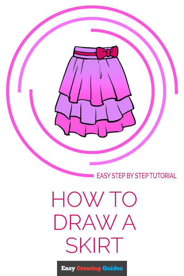 How to Draw Skirt | Share to Pinterest