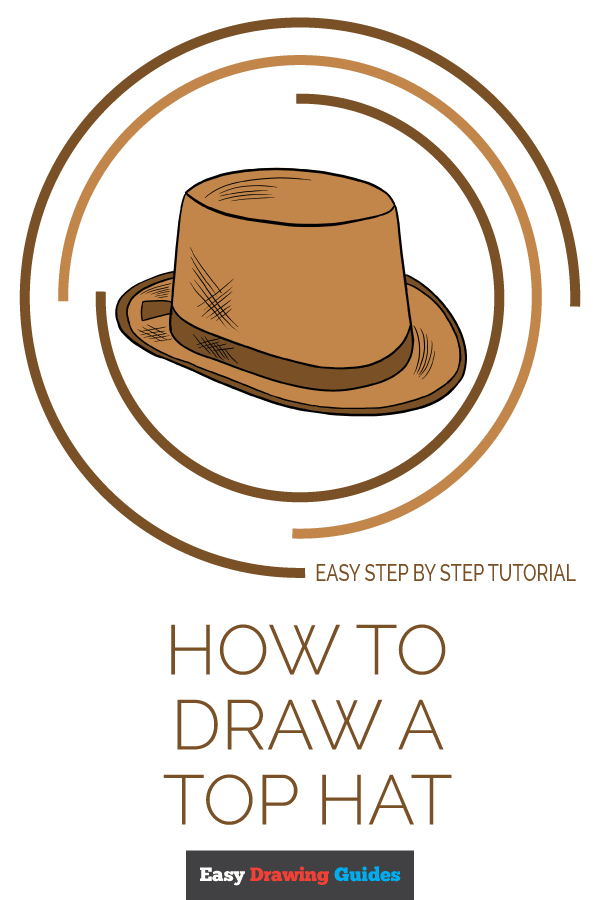 How to Draw Top Hat | Share to Pinterest