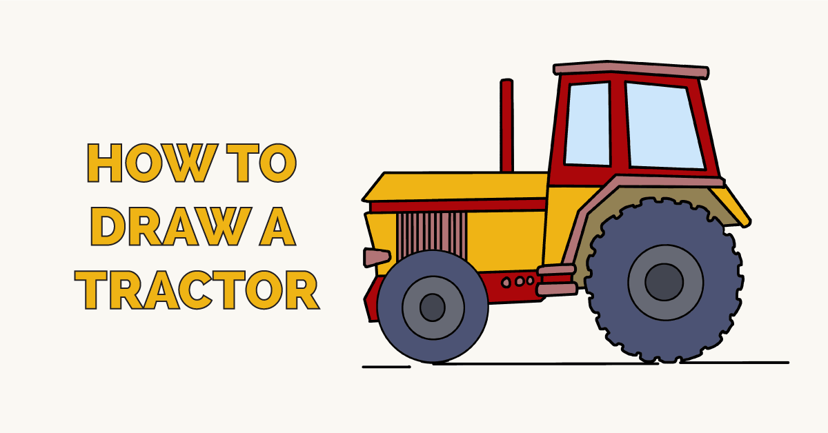 How to Draw a Tractor Featured Image