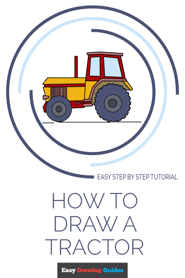 How to Draw Tractor | Share to Pinterest
