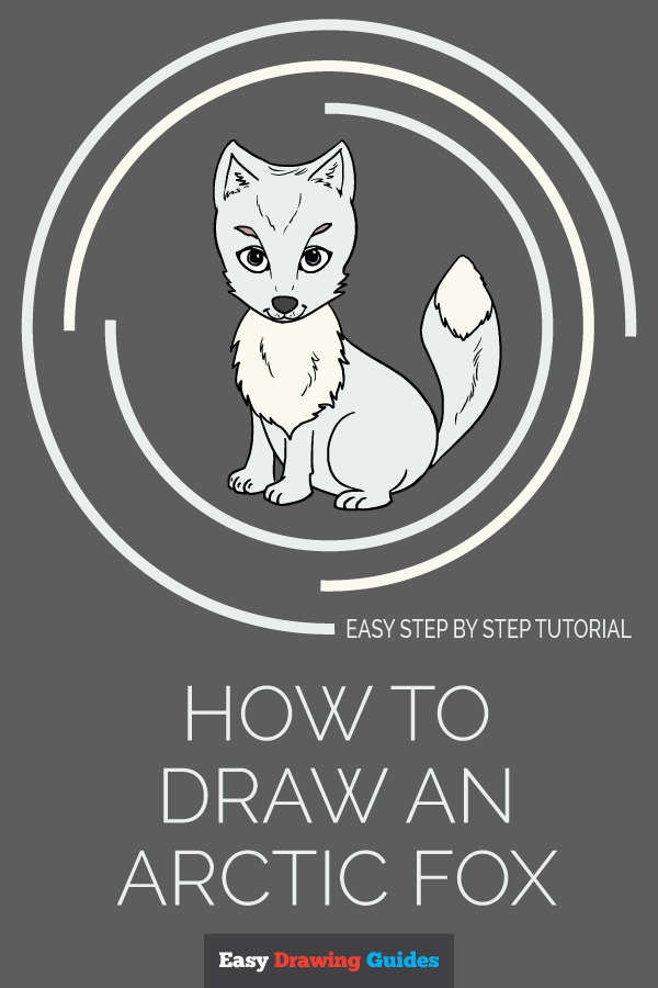 How to Draw Arctic Fox | Share to Pinterest