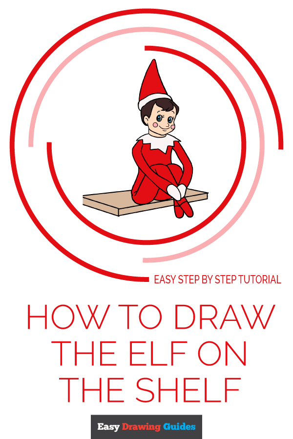 How to Draw the Elf on the Shelf Pinterest Image