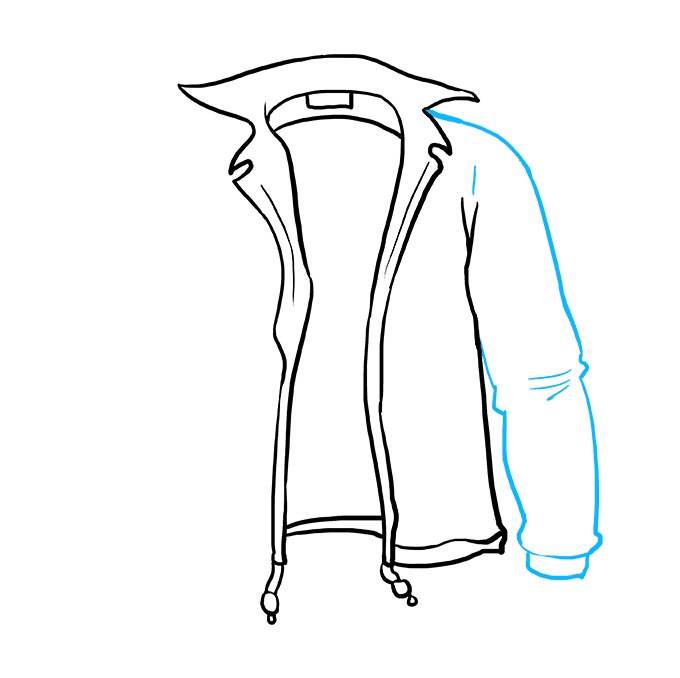 How to Draw Jacket: Step 6
