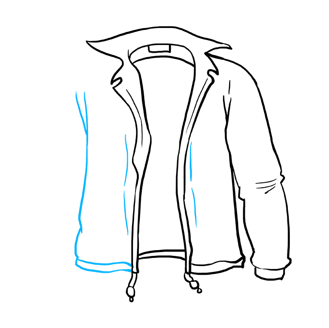 How to Draw Jacket: Step 7