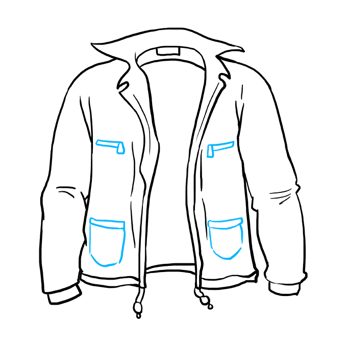 How to Draw Jacket: Step 9