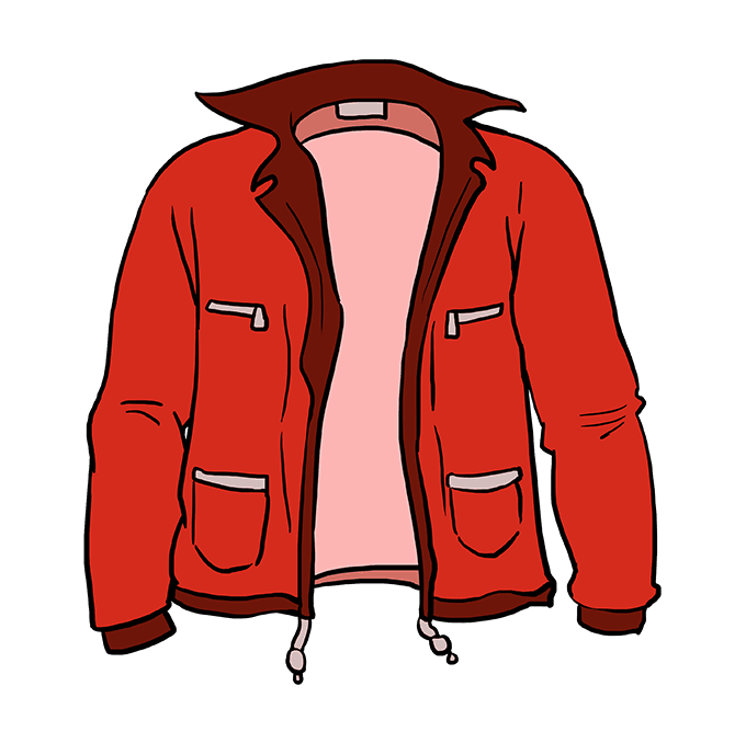 How to Draw Jacket: Step 10