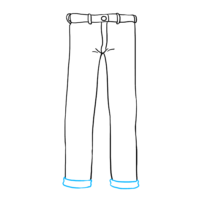 How to Draw Jeans: Step 6