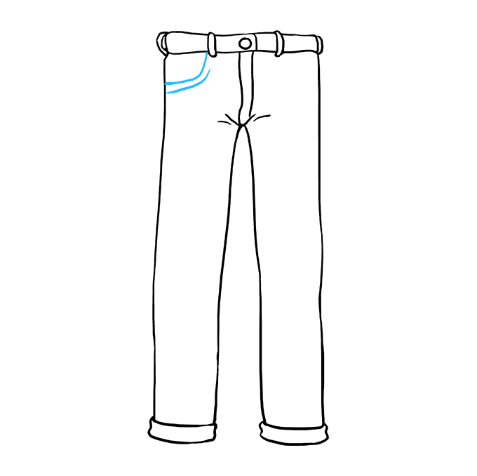 How to Draw Jeans Step 07
