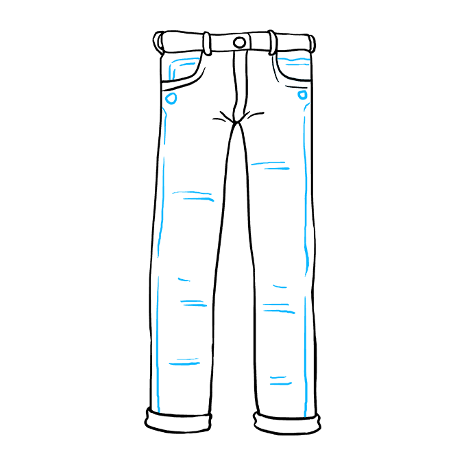 How to Draw Jeans: Step 9
