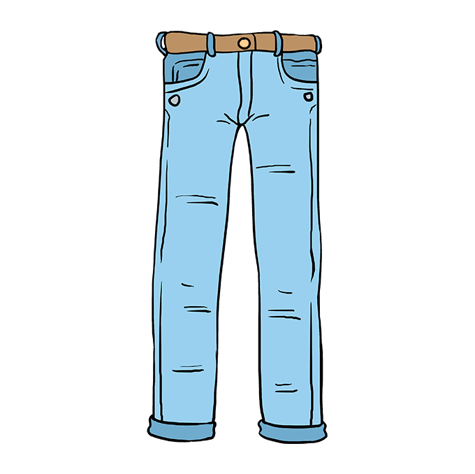 How to Draw Jeans: Step 10