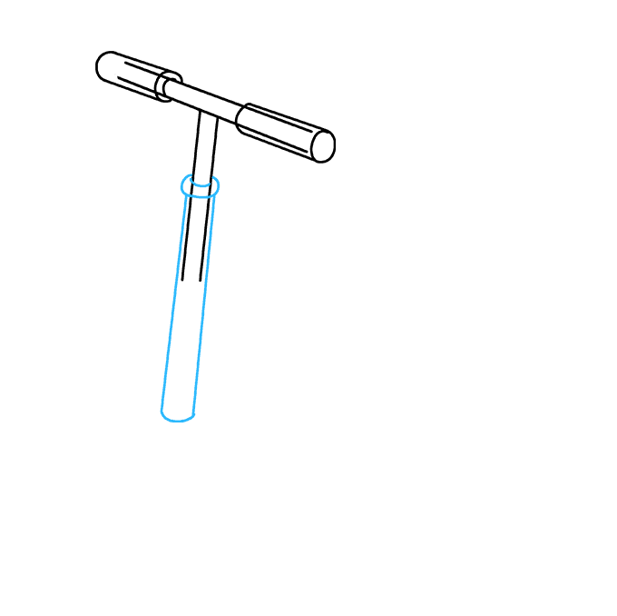 How to Draw a Scooter Step 04