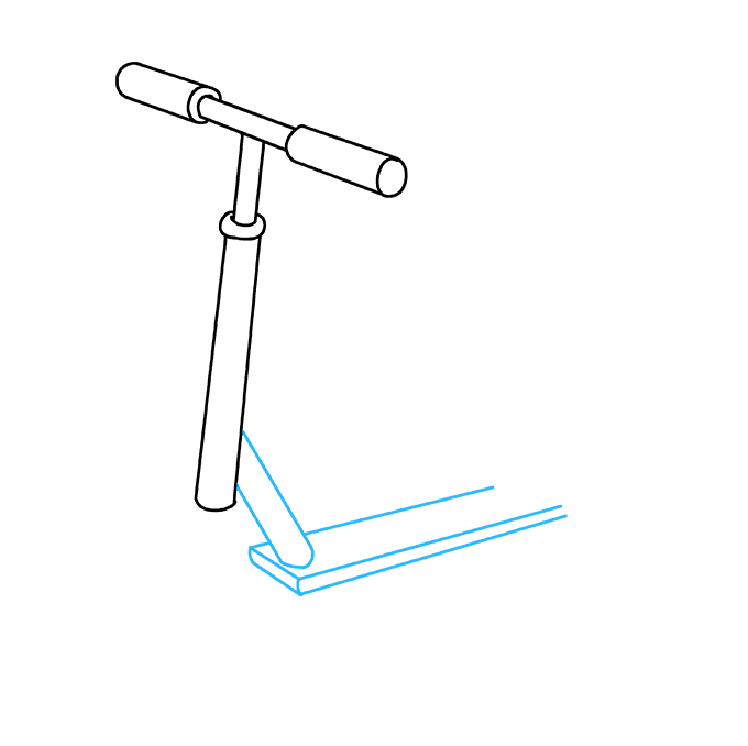 How to Draw a Scooter Step 06