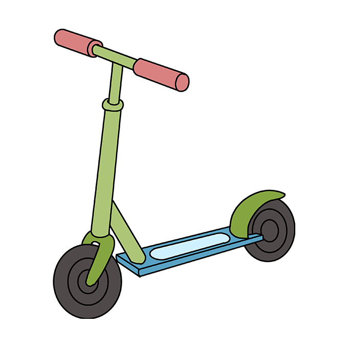 How to Draw a Scooter Step 10