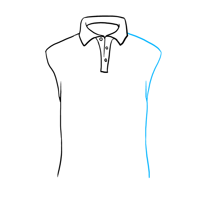 How to Draw Shirt: Step 6