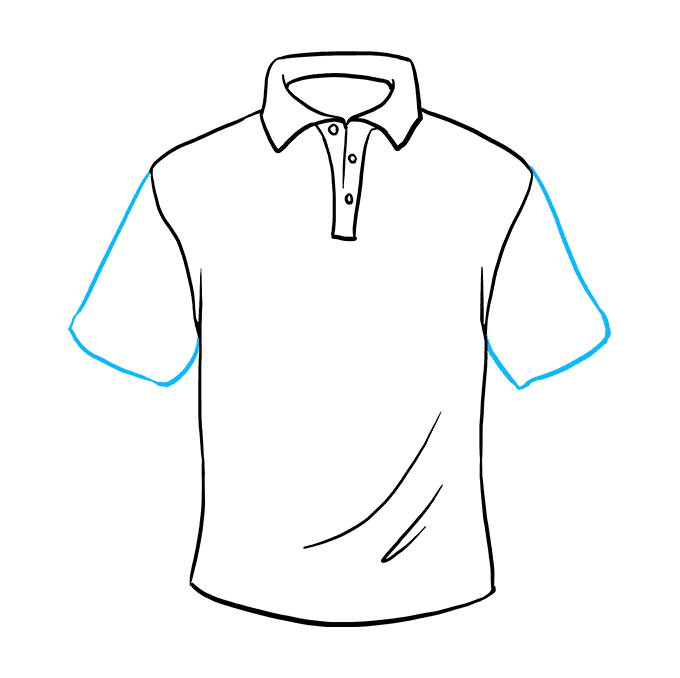 How to Draw Shirt: Step 8