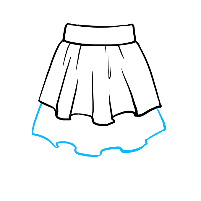 How to Draw Skirt: Step 5