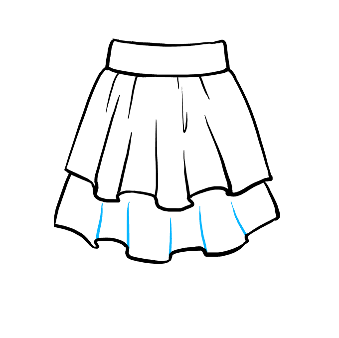 How to Draw Skirt: Step 6